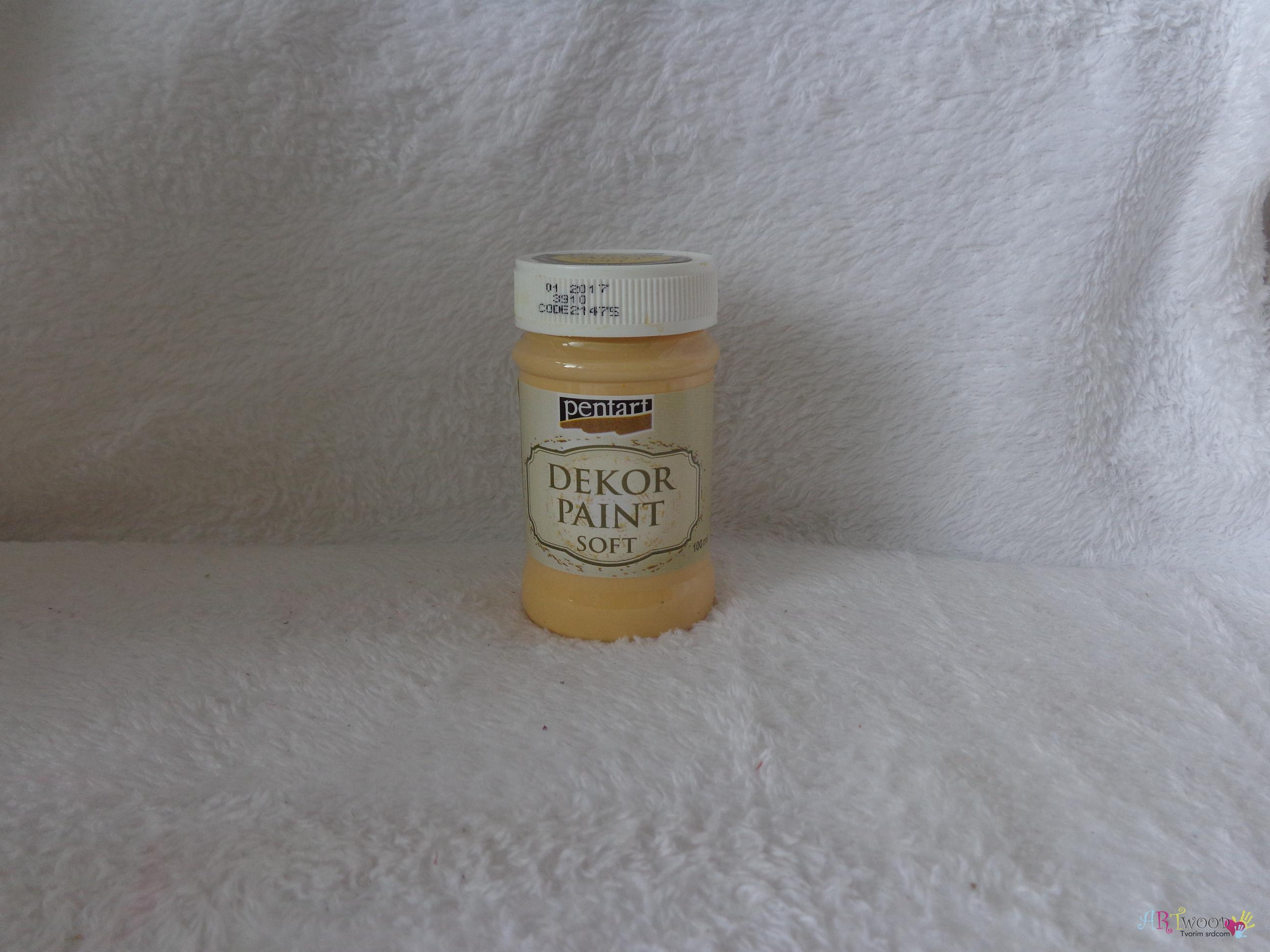 Decort Paint Soft 100ml-mandarínková