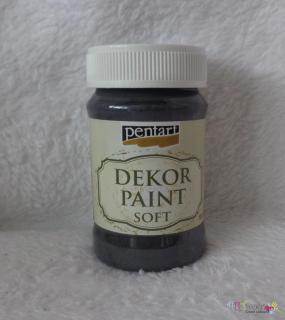 Decort Paint Soft 100ml-čierna