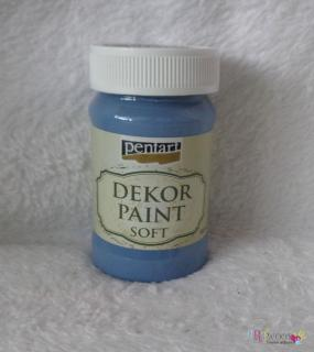 Decort Paint Soft 100ml-džínsovo modrá