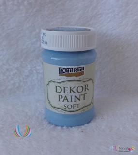 Decort Paint Soft 100ml-ľanová modrá