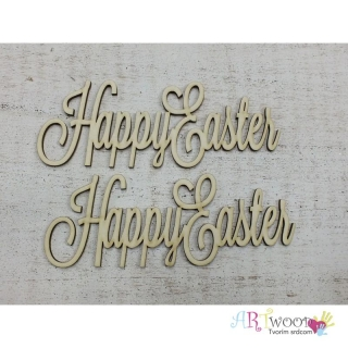 Drevený text - Happy Easter 15cm, 2ks/bal